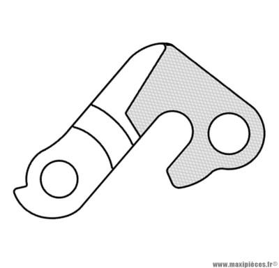 Patte de dérailleur n°134 - Accessoire Vélo Pas Cher