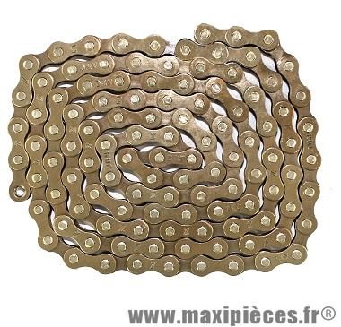 Chaîne de vélo à 1/3 vitesses z410 basique vrac marron marque KMC - Matériel pour Vélo