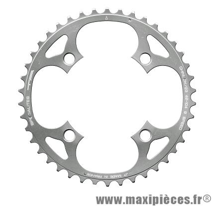 Plateau 42 dents chinook diamètre 104mm 4 branches (extérieur/23) marque Spécialités TA - Pièce vélo
