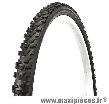 Pneu de vélo dimension 26 x 1,95 terrain gras noir marque Deli Tire