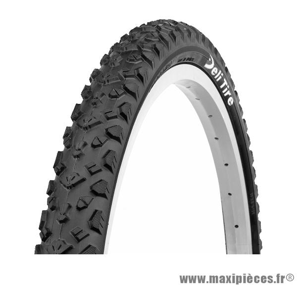Pneu de vélo dimension 26 x 1,95 noir marque Deli Tire