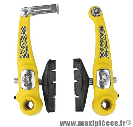 Etrier de frein VTT v-brake plastique jaune - Accessoire Vélo Pas Cher