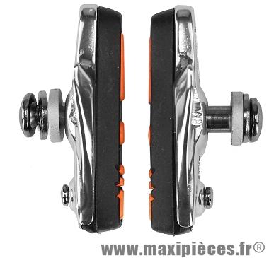 Porte patins route 55mm orange/noir support alu (la paire) marque Baradine - Accessoire vélo