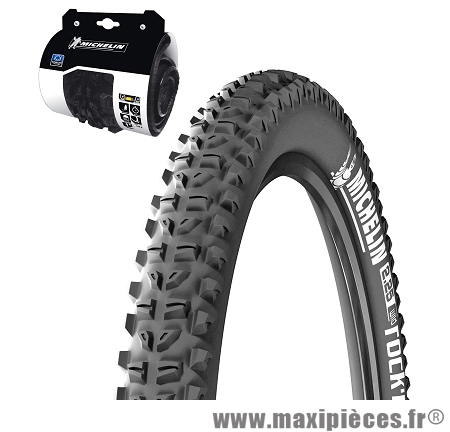 Pneu de vélo dimension 26 x 2,10 wildrock'r tringle souple marque Michelin