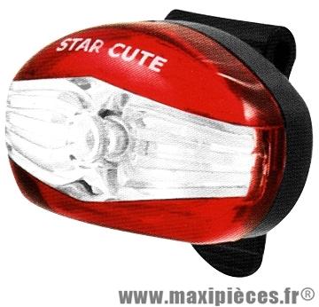 Eclairage arrière star cute (livre avec piles) marque Spanninga - Matériel pour Vélo