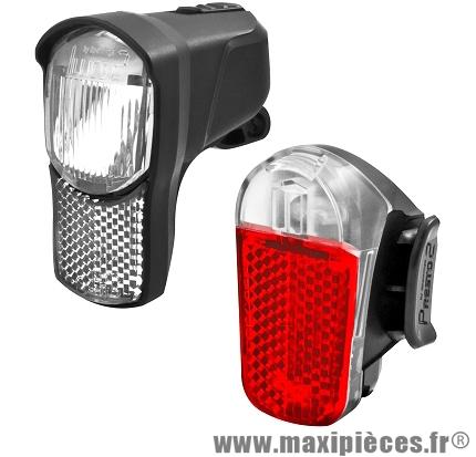 Eclairage avant et arrière illico/presto marque Spanninga - Matériel pour Vélo