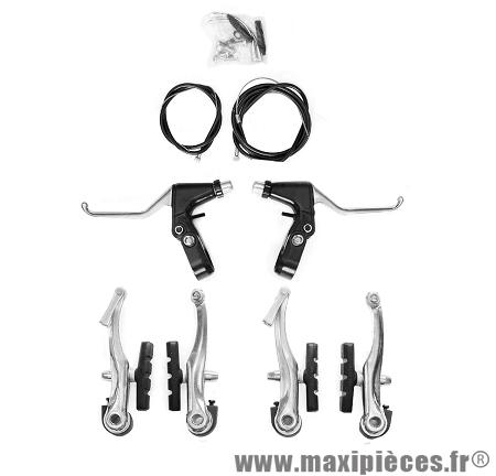 Ensemble complet frein v-brake leader avant et arrière - Accessoire Vélo Pas Cher
