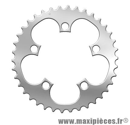 Plateau 38 dents compact diamètre 94mm 5 branches (intermédiaire) marque Spécialités TA - Pièce vélo