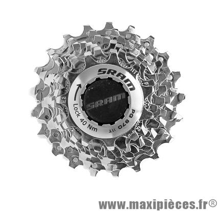 Cassette 9 vitesses pg 970 11x21 dents marque Sram - Pièce vélo