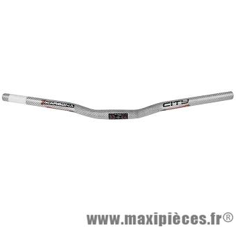 Cintre city karbona diamètre 25,4mm blanc - Accessoire Vélo Pas Cher