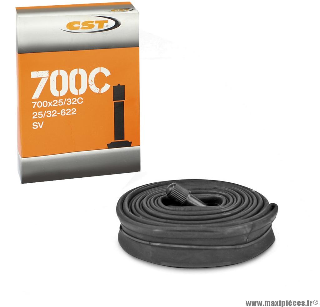 Chambre à air dimensions 700 x 25/32 standard marque CST - Pièce vélo