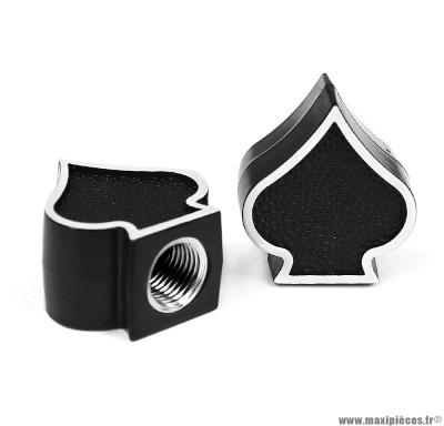 Bouchon valve schrader pique couleur noir (la paire) marque WTP - Pièce vélo