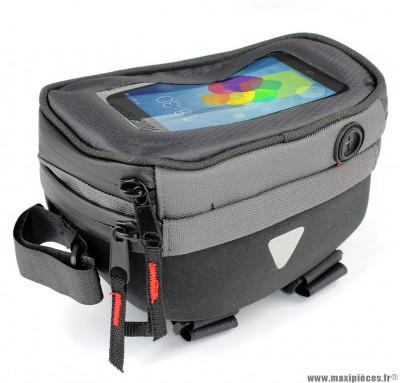 Sacoche smartphone fixation cadre top tube écran lcd tactile - Accessoire Vélo Pas Cher