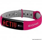 Bracelet activo connecte rose et gris marque Sigma- Equipement cycle