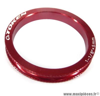 Entretoise ahead-set 5mm 3,2 grammes rouge x 10 marque Token - Matériel pour Vélo