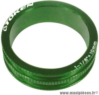Entretoise ahead-set 10mm 6,2 grammes vert x 10 marque Token - Matériel pour Vélo