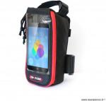 Housse pour smartphone noir fixation top tube marque Oktos- Equipement cycle
