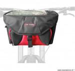 Sacoche de vélo isotherme fixation avec velcro cintre noir marque Oktos- Equipement cycle