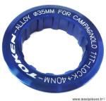 Ecrou de cassette campagnolo 11 dents bleu marque Token - Pièce vélo