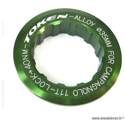 Ecrou de cassette campagnolo 11 dents vert marque Token - Pièce vélo