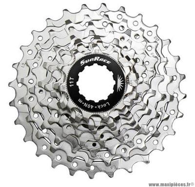 Cassette 9 vitesses 11-25 marque Sunrace - Pièce vélo