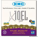 Chaîne de vélo à 10 vitesses modèle x10el or marque KMC - Matériel pour Vélo