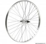 Roue arrière VTT 20 pouces simple paroie axe plein couleur alu - Accessoire Vélo Pas Cher
