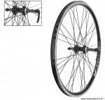 Paire de roues VTT/VTC 26 pouces double paroies roue libre a visser - Accessoire Vélo Pas Cher