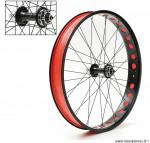 Paire de roues alu fat bike 26p 9-10 vitesses a blocage (entraxe ar 170mm) - Accessoire Vélo Pas Cher