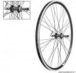 Paire de roues 28 pouces double paroies roue libre a visser noire - Accessoire Vélo Pas Cher