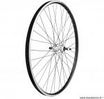 Paire de roues 28 pouces simple paroie roue libre a visser noire et argent - Accessoire Vélo Pas Cher