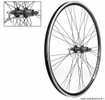 Paire de roues 28 pouces double paroies a cassette 8-9 vitesses a blocage noire - Accessoire Vélo Pas Cher