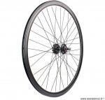 Paire de roues fixie 700c double paroies 43mm noire - Accessoire Vélo Pas Cher