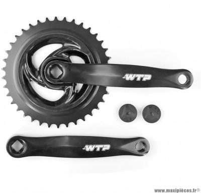 Pédalier mono plateau 38 dents 170mm acier marque WTP - Matériel pour Vélo
