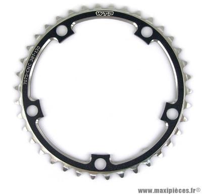 Plateau 38 dents route compact 110mm noir marque WTP - Pièce vélo