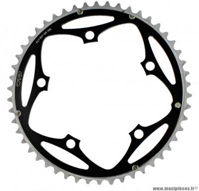 Plateau 50 dents 5 branches bcd 130mm noir grand plateau 10 vitesses marque WTP - Pièce vélo