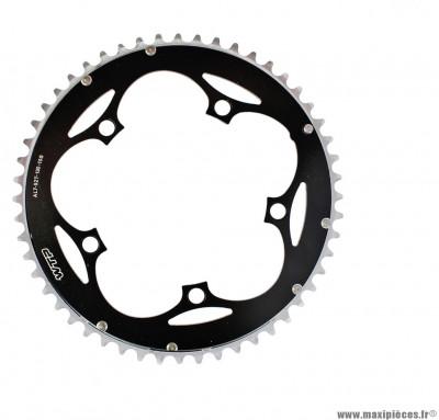 Plateau 52 dents 5 branches bcd 130mm noir grand plateau 10 vitesses marque WTP - Pièce vélo