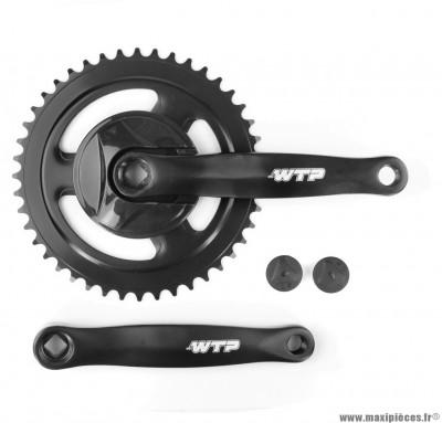 Pédalier mono plateau 44 dents 170mm noir marque WTP - Matériel pour Vélo