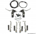 Ensemble complet frein v-brake avant et arrière alu + nylon composite marque WTP - Matériel pour Vélo