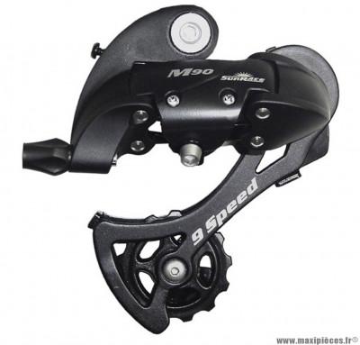 Dérailleur arrière 9 vitesses grande chape (11-34 dents) marque Sunrace - Pièce vélo