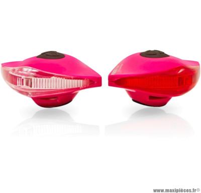 Eclairage pirata llt avant + arrière rose marque Spanninga - Matériel pour Vélo