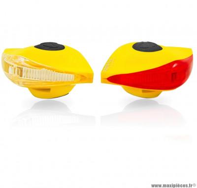 Eclairage pirata llt avant + arrière jaune marque Spanninga - Matériel pour Vélo