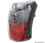 Eclairage arrière pixeo xb avec protection noire 1 led marque Spanninga - Matériel pour Vélo