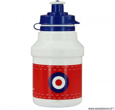 Bidon garçon target blanc et rouge 300ml marque Polisport- Equipement cycle