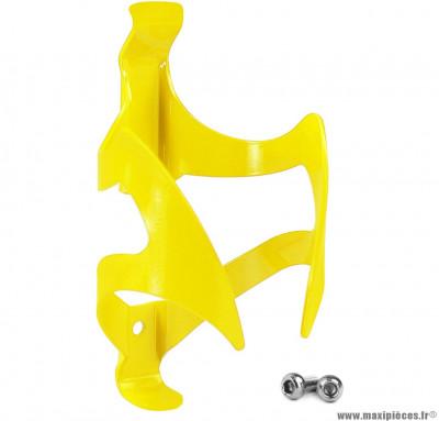 Porte bidon aluminium jaune marque WTP - Accessoire vélo