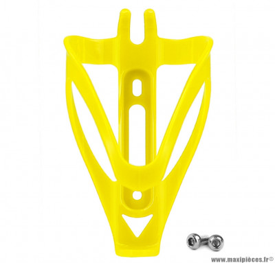 Porte bidon en résine jaune ferme  poids : 31,2 grammes marque WTP - Accessoire vélo
