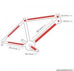 Prix spécial ! Kit Protection de cadre vélo invisible Zéfal Skin Armor taille L 14 pièces haute résistance