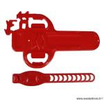 Protection tube inferieur morpho rouge marque Cadaix - Matériel pour Vélo