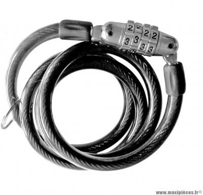 Antivol a code 100x80x10mm marque Alt-1 - Accessoire vélo