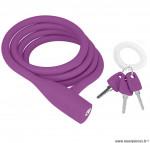 Antivol vélo a clé party coil violet 1350mm marque Knog - Accessoire vélo